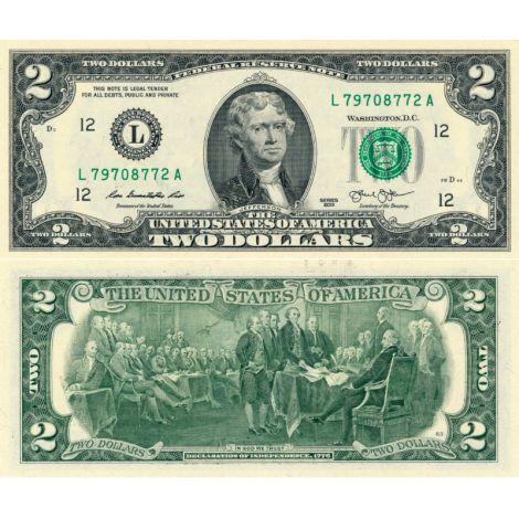 Yhdysvallat 2013 $2 P538-L UNC