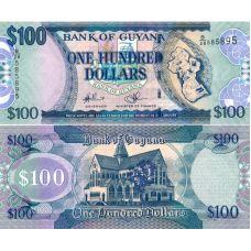 Guyana 2009 100 Dollars P36b-1 UNC