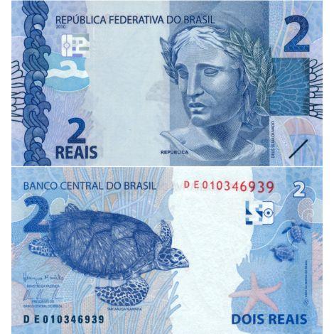 Brasilia 2010 2 Reais P252c UNC