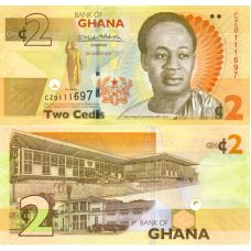 Ghana 2017 2 Cedis P37Ae UNC