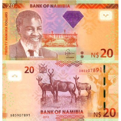 Namibia 2013 20 Dollars P12b UNC