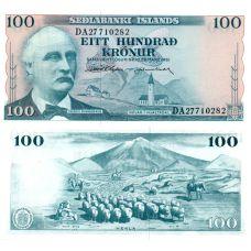 Islanti 1961 100 Kronur P44-U38 UNC