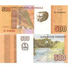 Angola 2012 500 Kwanzas P155a UNC
