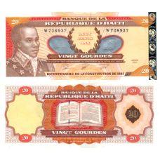 Haiti 2001 20 Gourdes P271Aa UNC