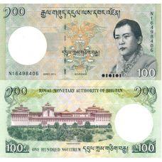 Bhutan 2015 100 Ngultrum P32c UNC