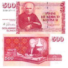 Islanti 2001 500 Kronur P58a3 UNC