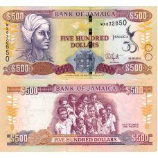 Jamaika 2012 500 Dollars P91 UNC