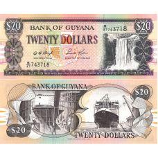 Guyana 1996 20 Dollars P30b2 UNC