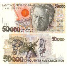 Brasilia 1991 50000 Cruzeiros P234 UNC
