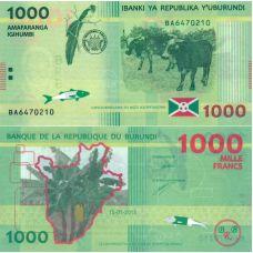 Burundi 2015 1000 Francs P51a UNC