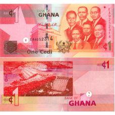 Ghana 2010 1 Cedi P37b UNC