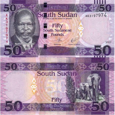 Etelä-Sudan 2017 50 Pounds P14c UNC