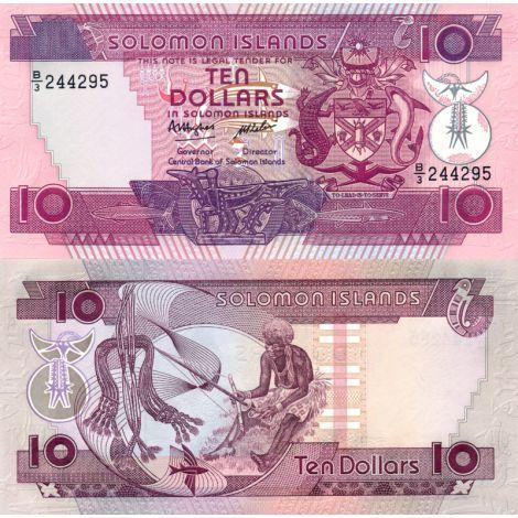 Salomonsaaret 1986 10 Dollars P15a UNC
