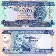 Salomonsaaret 2006 5 Dollars P26-U10 UNC