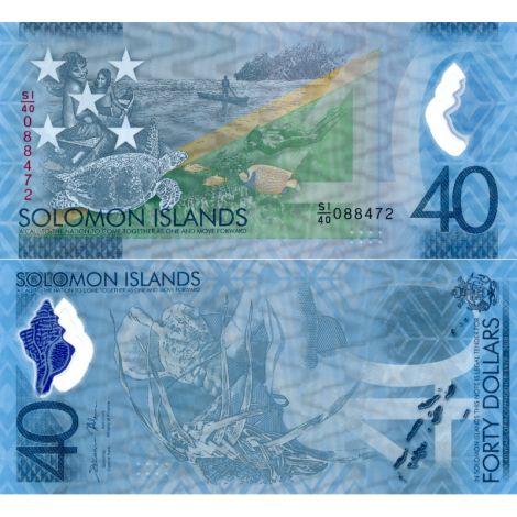 Salomonsaaret 2018 40 Dollars P37 UNC