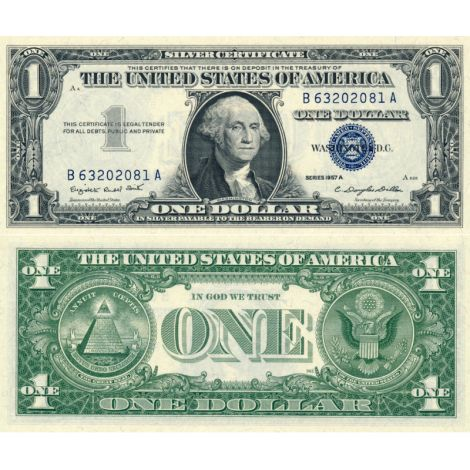 Yhdysvallat 1957 $1 P519a UNC