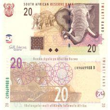 Etelä-Afrikka 2009 20 Rand P129b UNC