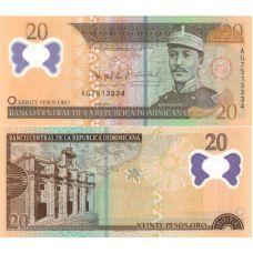 Dominikaaninen tasavalta 2009 20 Pesos Oro P182 UNC