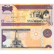 Dominikaaninen tasavalta 2008 50 Pesos Oro P176b1 UNC