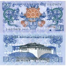 Bhutan 2013 1 Ngultrum P27b UNC