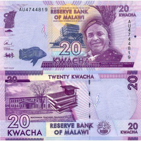 Malawi 2015 20 Kwacha P63b UNC