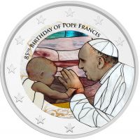 2 € Franciscus 85 vuotta VÄRITETTY