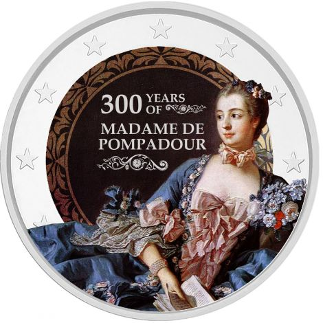 2 € Ranska - Madame de Pompadour VÄRITETTY