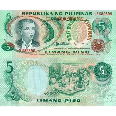 Filippiinit 1978 5 Piso P160d UNC