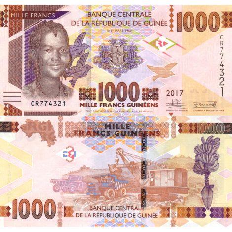 Guinea 2017 1000 Francs P48b UNC
