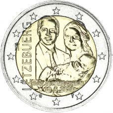 Luxemburg 2020 2 € Prinssi Charles reliefi UNC