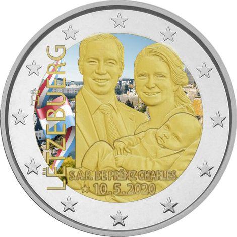 Luxemburg 2020 2 € Prinssi Charles #2 VÄRITETTY