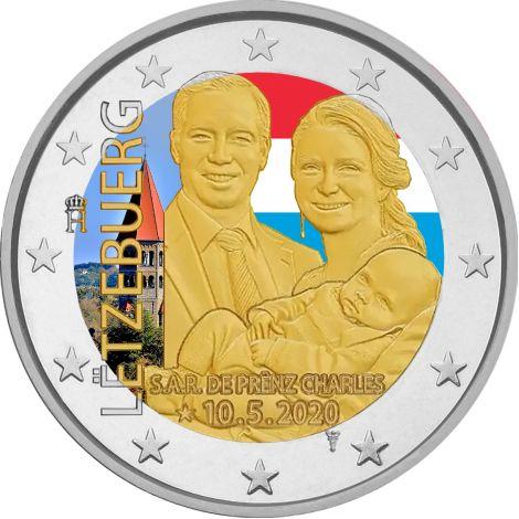 Luxemburg 2020 2 € Prinssi Charles VÄRITETTY