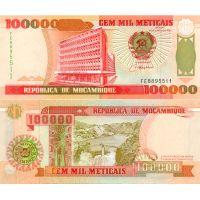 Mosambik 1993 100 000 Meticais P139 UNC