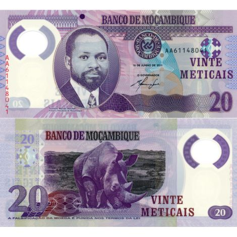 Mosambik 2011 20 Meticais P149a UNC