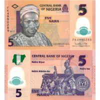 Nigeria 2019 5 Naira P38j UNC