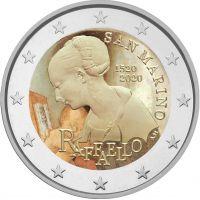 San Marino 2020 2 € Raffaello VÄRITETTY