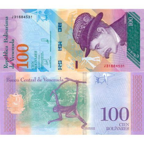 Venezuela 2018 100 Bolivares P106b UNC