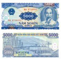 Vietnam 1991 5000 Dong P108 UNC