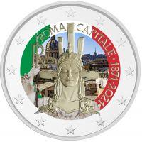 Italia 2021 2 € Rooma pääkaupunkina 150 vuotta VÄRITETTY