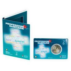 Italia 2021 2 € Terveydenhuollon ammattilaiset COINCARD