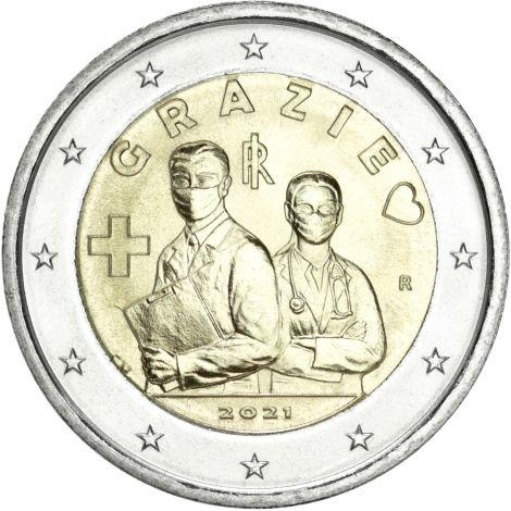 Italia 2021 2 € Terveydenhuollon ammattilaiset UNC
