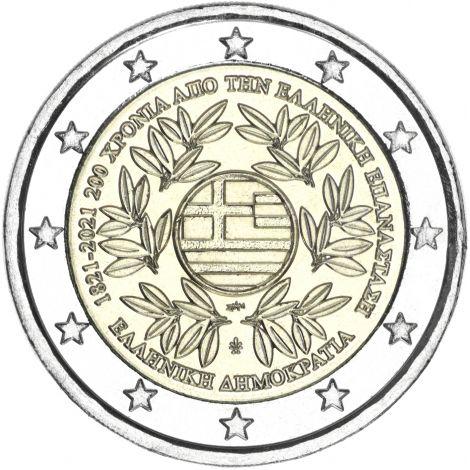 Kreikka 2021 2 € Vallankumous UNC