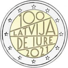 Latvia 2021 2 € De iure 100v UNC
