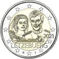 Luxemburg 2021 2 € Henrin avioliitto 40v - reliefi UNC