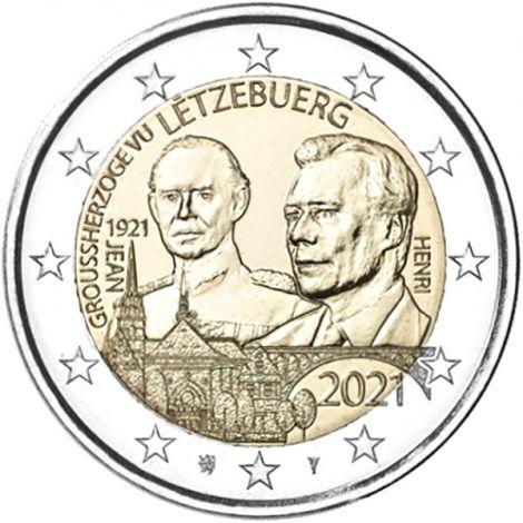 Luxemburg 2021 2 € Suurherttua Jean 100v - reliefi UNC