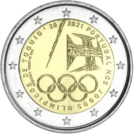 Portugali 2021 2 € Tokion olympialaiset UNC