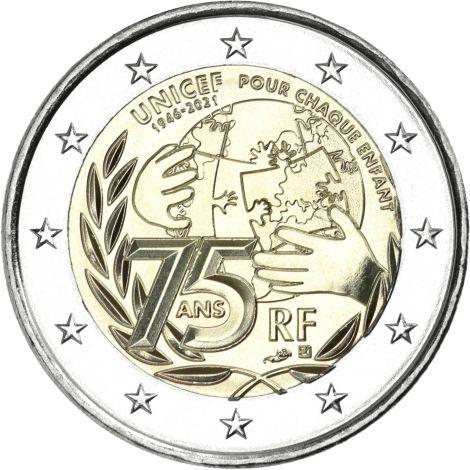 Ranska 2021 2 € UNICEF UNC