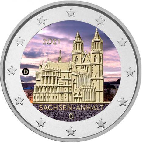 Saksa 2021 2 € Sachsen-Anhalt VÄRITETTY