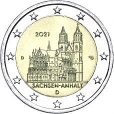 Saksa 2021 2 € Sachsen-Anhalt D UNC