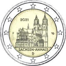 Saksa 2021 2 € Sachsen-Anhalt F UNC